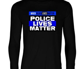 BLM THIN BLUE LS T-SHIRT