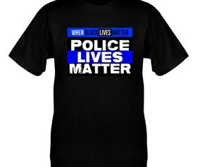 BLM THIN BLUE T-SHIRT